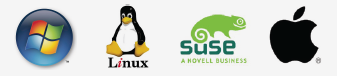 deus supports the following systems: windows, linux, suse, and mac